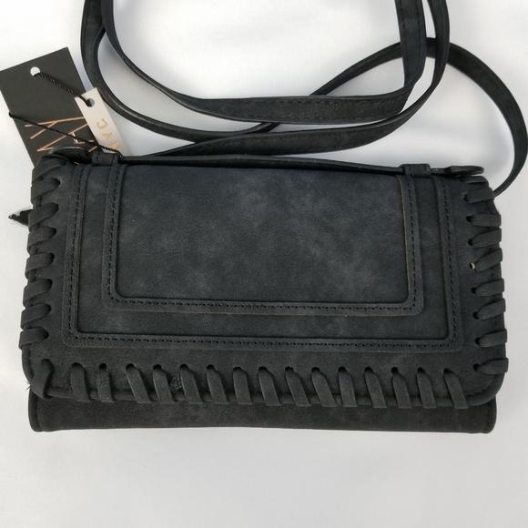 d5f4204786c7  Violet Ray  black crossbody wallet bag